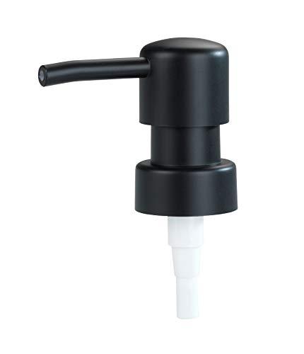 WENKO Ersatzpumpkopf für Seifenspender Schwarz Rund - Seifenpumpe, Kunststoff (ABS), 6.7 x 18 x 3.4 cm, Schwarz
