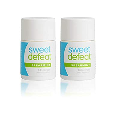 Sweet Defeat Anti Sugar Lozenges - Stop Sugar Cravings - Clinically Proven Gymnema Sylvestre Lozenges - Mint Flavor - 30 Lozenges