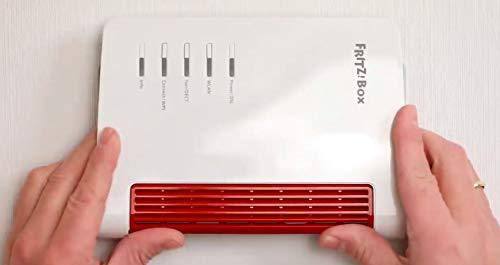 GrabbeIT Wallmount AVM Fritz!Box 7530, die Wandhalterung für schnelle und exakte Montage, dient auch als Bohrschablone