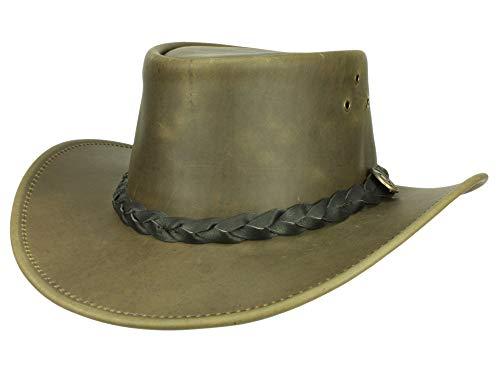 Scippis Chapeau de Cuir Boulder Homme - Marron