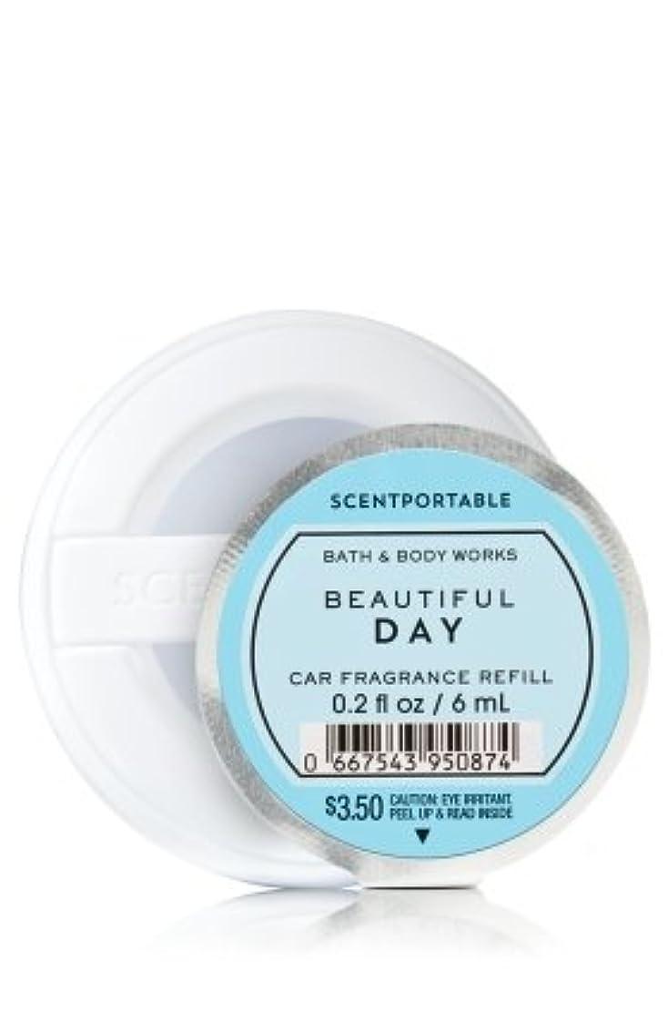 オーバーラン略奪暗くする【Bath&Body Works/バス&ボディワークス】 クリップ式芳香剤 セントポータブル詰替えリフィル ビューティフルデイ Scentportable Fragrance Refill Beautiful Day [並行輸入品]