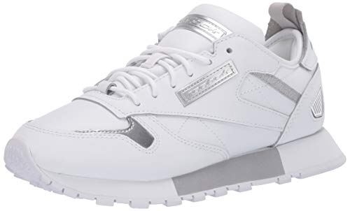 Reebok Reedux Damen Classic Leather Sneaker, Weiá (weiß/kaltgrau/silber metallic), 36.5 EU