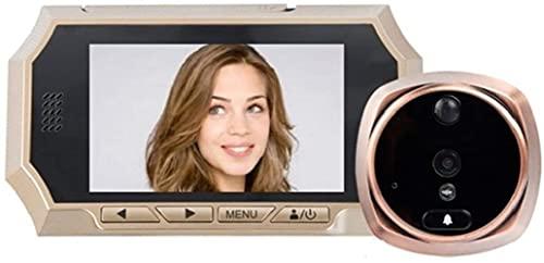 DZCGTP Video 4.3 Pulgadas LCD Digital Door Mirilla Visor Sensor de Movimiento HD Timbre de la Puerta IR Visión Nocturna Foto Audio Video Cámara de Seguridad de la Puerta d