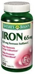 Special Pack of Large special price 5 NATURES [Alternative dealer] BOUNTY 1383 100 65MG SULF IRON FERROUS