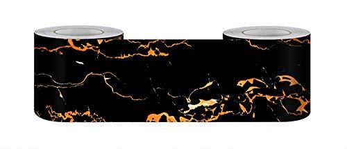 Borde del papel pintado obsidiana Auto Adhesivo del Papel Pintado del PVC Cenefa autoadhesiva para decoración de pared de cocina baño 10 cm X 500 cm