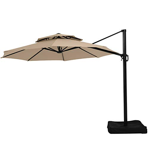 Garden Winds Replacement Canopy Top Cover for The Lowe s Offset YJAF-819R Umbrella - Read Product Description Before Buying