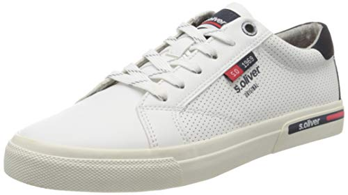 s.Oliver Herren 5-5-13630-24 Sneaker, Weiß (White 100), 45 EU