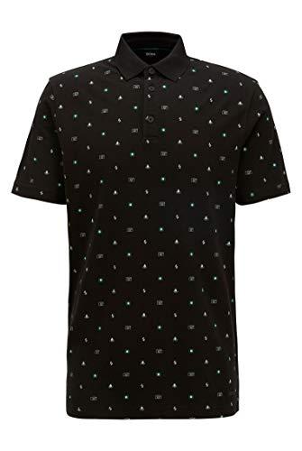 BOSS Prex Polo, Negro (Black 1), Large para Hombre