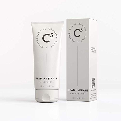 C3 Head Hydrate: Soothing, Healing, and Hydrating Fragrance-free Daily Moisturizer for Bald, Shaved, and Buzzed Heads; Gentle, Sensitive Skin Face and Scalp Care for Men and Women