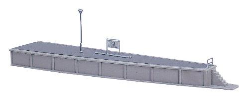 Kato 23-104 Straight Island Platform End RH Curved 200mm (Pre-Built)