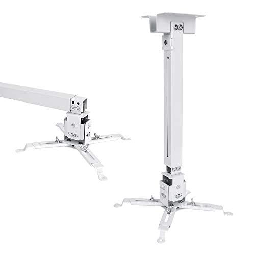 VANKYO Beamer Halterung, Universal LED HD Projektor Deckenhalterung Wandhalterung für Projektor unterschiedlicher Größe, Weiß