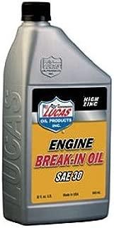 Lucas Oil 10630 30W Petroleum Break-In Oil - 1 Quart Bottle
