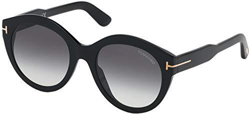 Tom Ford Occhiali da Sole Rosanna FT 0661 Black/Grey Shaded Donna