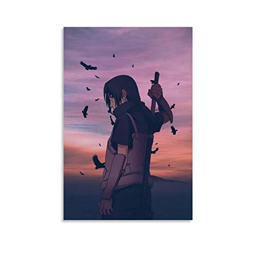 Anime NARUTO Itachi Poster Pintura decorativa Lienzo de pared Arte de la sala de estar Carteles Dormitorio Pintura 30 x 45 cm