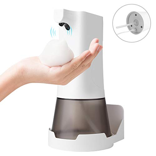 E&jing Soap Dispenser, Touchless Automatic Foaming Hand sanitizer Dispenser 350ml Infrared Motion Sensor Battery Automatic Premium Countertop Soap Dispensers for Bathroom Kitchen Toilet Office Hotel