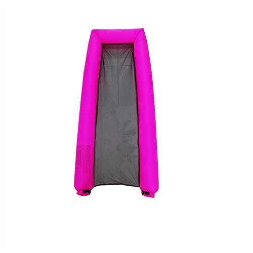 TTDD Tumbona Inflable, Hamaca de Agua Sofá Inflable rápido, Tela Resistente al desgarro, Bolso de Transporte Compacto, Pila Fija, Ideal para Camping al Aire Libre, Picnic Pink