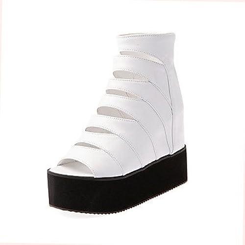 YFF Plate-forme Chaussures femmes Sandales Peep Toe Creepers bottes Party & Soirée Robe Décontracté noir Bleu Jaune,Blanc US8.5   EU39   UK6.5   CN40