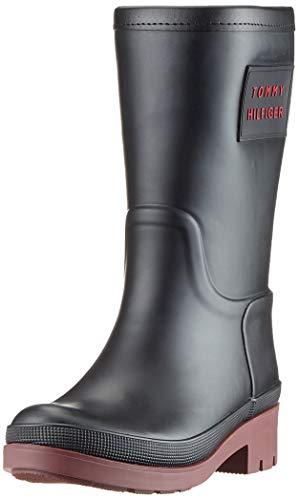 Tommy Hilfiger Damen Warmlined Rainboot Stiefeletten, Schwarz (Black 990), 40 EU