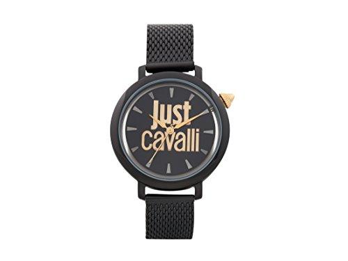 Just Cavalli Damen Datum klassisch Quarz Uhr mit Edelstahl Armband JC1L007M0085