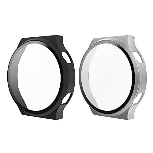 MoKo 2-Piezas Funda Protectora Compatible con Huawei Watch GT2 Pro, PC Duro...