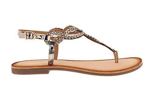 GIOSEPPO Dylana mujer 39222 de cuero marrón sandalias de tiras