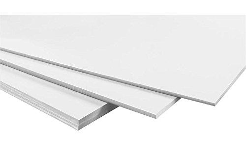 WONDAY Carton mousse epaisseur 5 mm format A4 21 x 29,7 cm Blanc
