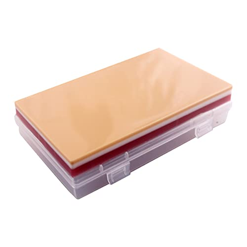 MTYQE Kit de sutura Práctica, Cojín de sutura, La sutura Hecha a Mano Kit de 3 Capas, Reutilizable de la Enfermera de Estudiante, para la Formación Práctica de sutura
