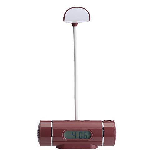 FPRW draagbare wekker bureaulamp zaklamp met tafelklok, oplaadbaar, multifunctioneel, voor geschenken, koffie
