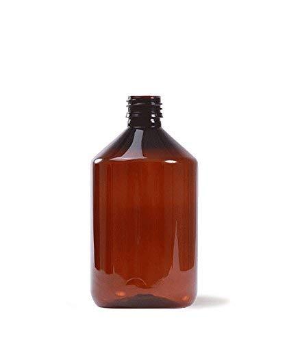 Essenciales - Botella Plástico, 500 ml, Color ÁMBAR uso Farmacéutico y Alimentario - Tarifa Plana envíos   Botella Plástico para Aceites Esenciales, Hidrolatos, Aguas Florares y Fragancias