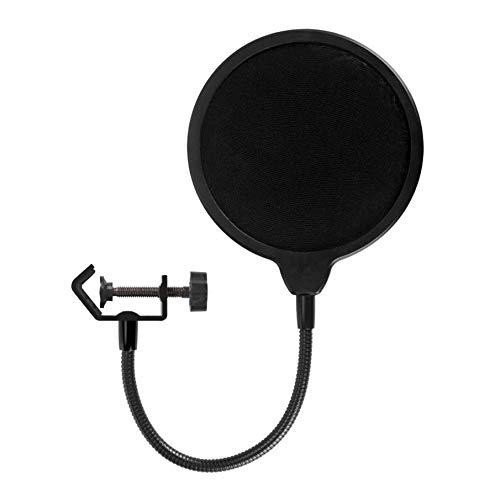 Freeday-uk para Yeti Micrófono dedicado Filtro de Pop Grabación de micrófono Tipo U de Doble Capa Grande con Red de pulverización Anti-Spray - Negro