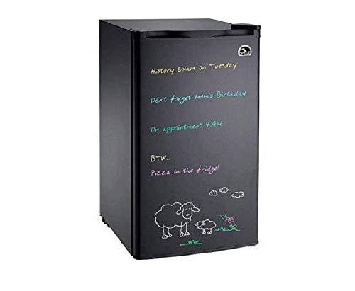 Igloo Black Eraser Board Refrigerator, 3.2 cu ft, with Reversible Door