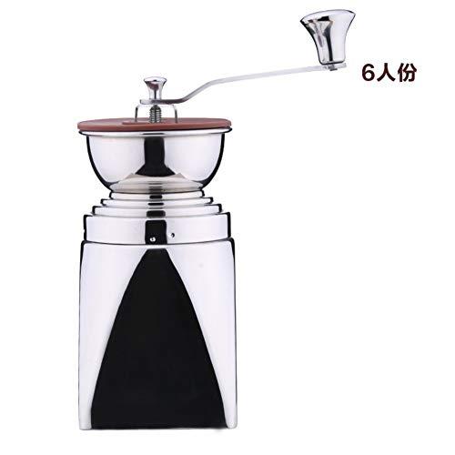 DPPD Molinillo de café, Acero Inoxidable Estilo Simple y Moderno Molinillo de café Manual Plateado-A