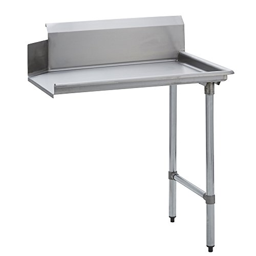 Fenix Sol Stainless Steel Commercial Kitchen Clean Dish Table, 30'W x 36'L x 44'H, Right Side, Galvanized Legs and Bracing