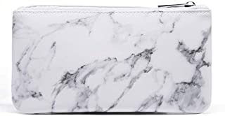 Marble Makeup Bag Cosmetic Bag Makeup Pouch Origanizer,Pu Leather,With Gold Zipper