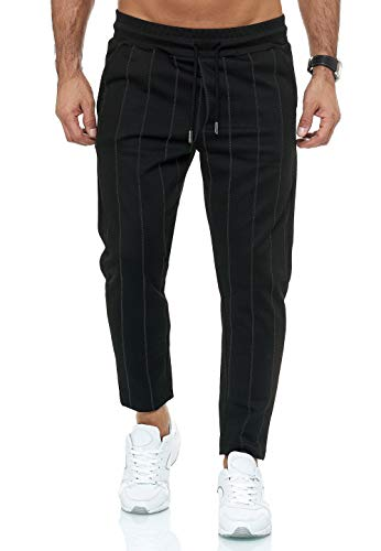 Red Bridge Herren Jogginghose Jogger Hose Sweat-Pants Striped Schwarz M