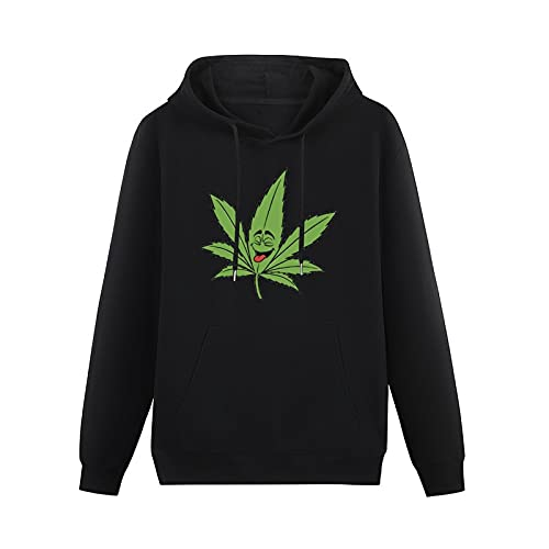 Pot Leaves Weed Men's Long Sleeve Fashion Pullover Hoodie Sweatshirt 6XL