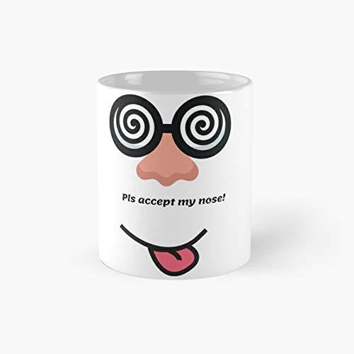 Put Your Nose - Taza clásica con texto en inglés 'Best Gift Funny Coffee Tazas de café de 11 onzas