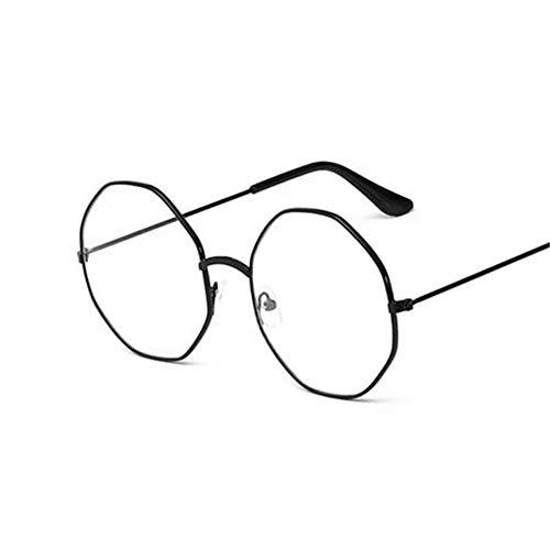 Men Women Vintage Anti Blue Light Clear Metal Frame Round Glasses