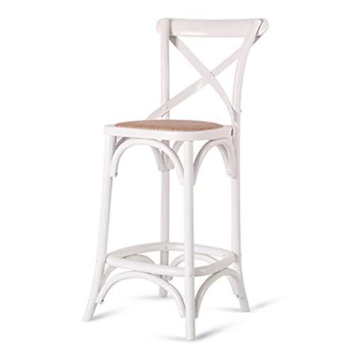 ☀ JBD Chaise De Bar en Bois Massif Style Européen Rétro Haut Tabouret De Mode Fauteuil Café Comptoir Loisir Siège Ménage (Couleur : G)