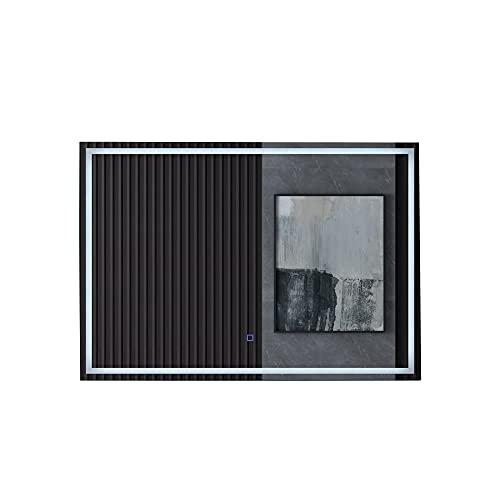 Mai & Mai Design LED Bad-Spiegel 1000x700 mm Wandspiegel mit Touchschalter, Beschlagfrei durch Antifog-Schicht
