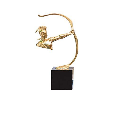 LOSAYM Figurki rzeźby statuetki artykuły dekoracyjne, rzeźba kreatywna figurka, elementy z miedzi, ornamenty do domu, biura, studia, dekoracja biurka