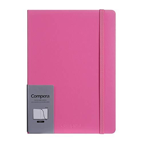 Comix Classico Taccuino/Classic Notebook A5, Taccuino a Righe, Copertina Rigida e Chiusura ad Elastico, Harcover Notebook Classico Con Pocket, 100g/m², 228 Pagine rosa