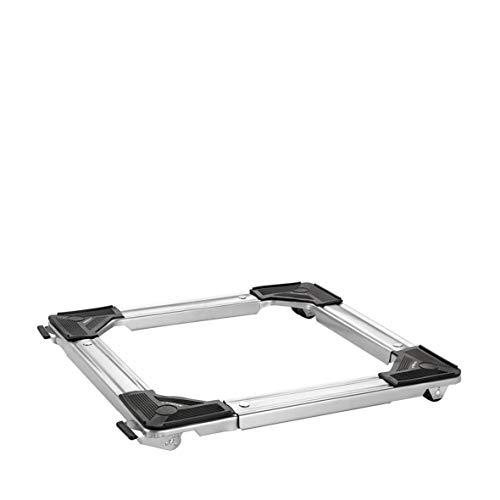WAGNER Transporthilfe - QUADRAT - verstellbar 46-66 cm, 5 cm hoch, pulverbeschichteter Stahl, grau, 4 doppelbereifte Bockrollen Ø 30 mm, Tragkraft 220 kg - 20119501