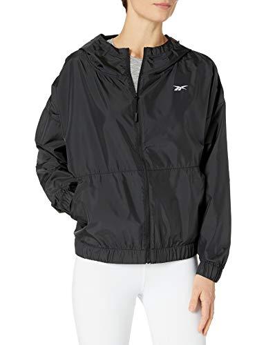 Reebok Damen Workout-Jacke, Damen, Sweatjacke, Workout Ready Woven Jacket, schwarz, X-Small