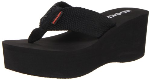 Rocket Dog Women's Crush Platform Thong Sandal,Black,8 M