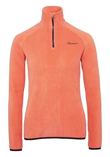 Chiemsee Damen Fleece, einfarbig Fleecejacke, Hot Coral, XS