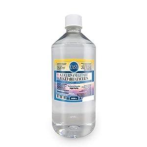 Easy – Glicerina vegetal (Glicerol) 1 litro líquido puro (99,98%) – Inodoro e Insabor- Sin OMG | Pureza certificada de grado farmacéutico USP/EP