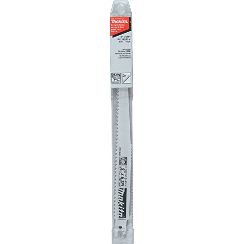 Makita 723055-A-5 9-Inch 6-TPI Wood Cutting Reciprocating Saw Blades, Pack of 5