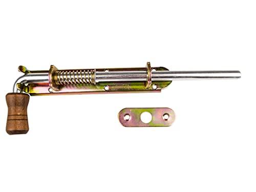 Chiavistello per porta in legno, zincato, con viti, resistente alle intemperie, 350 mm