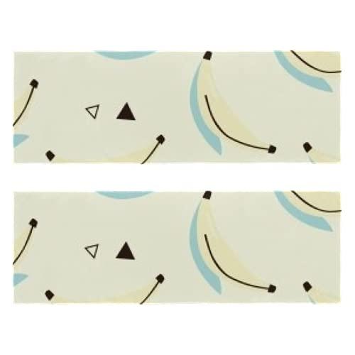Toallas de gimnasio de fitness Banana Math Print de secado rápido Toalla de microfibra deportiva de entrenamiento para hombres y mujeres, paquete de 2